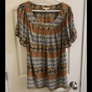 Plus sized paisley shirt 2x DB BRAND
